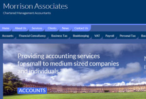 Accountancy website design in Bath