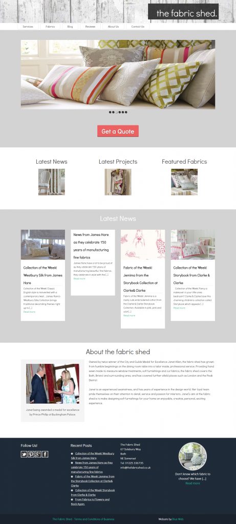 the fabric shed – Hand finished soft furnishings and fabrics