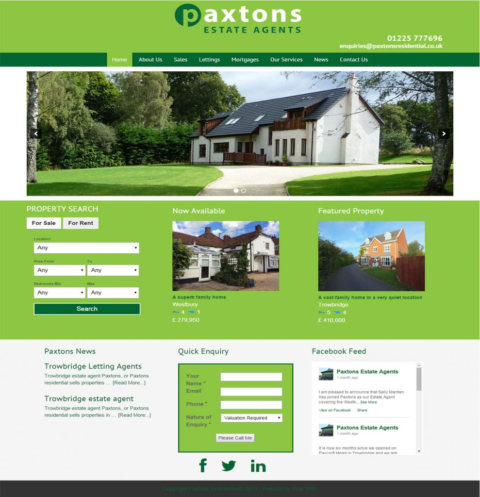 Estate Agents Trowbridge website design
