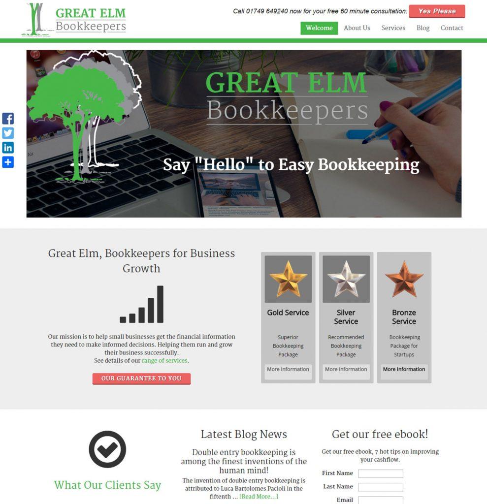 Bookkeeper website design