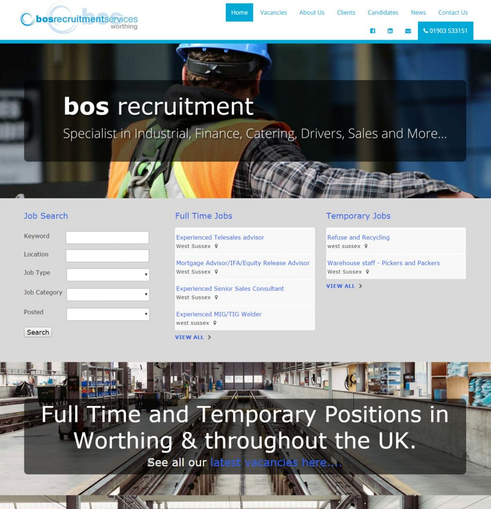 BOS Recruitment website design