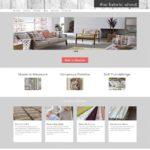 Fabric shop website design