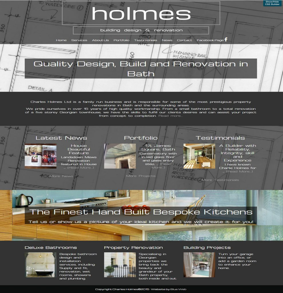 Website design for builders