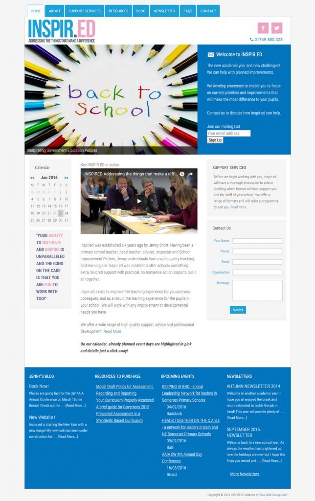 Education consultant website design