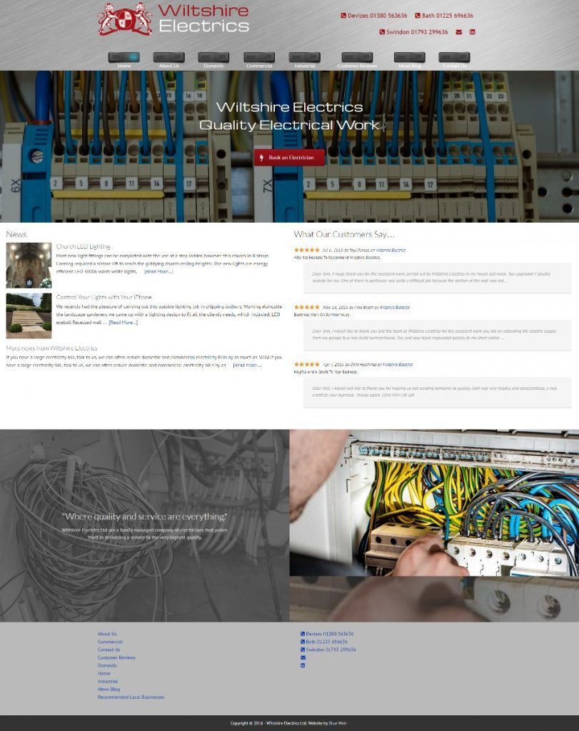 wiltshire-electrics-website design
