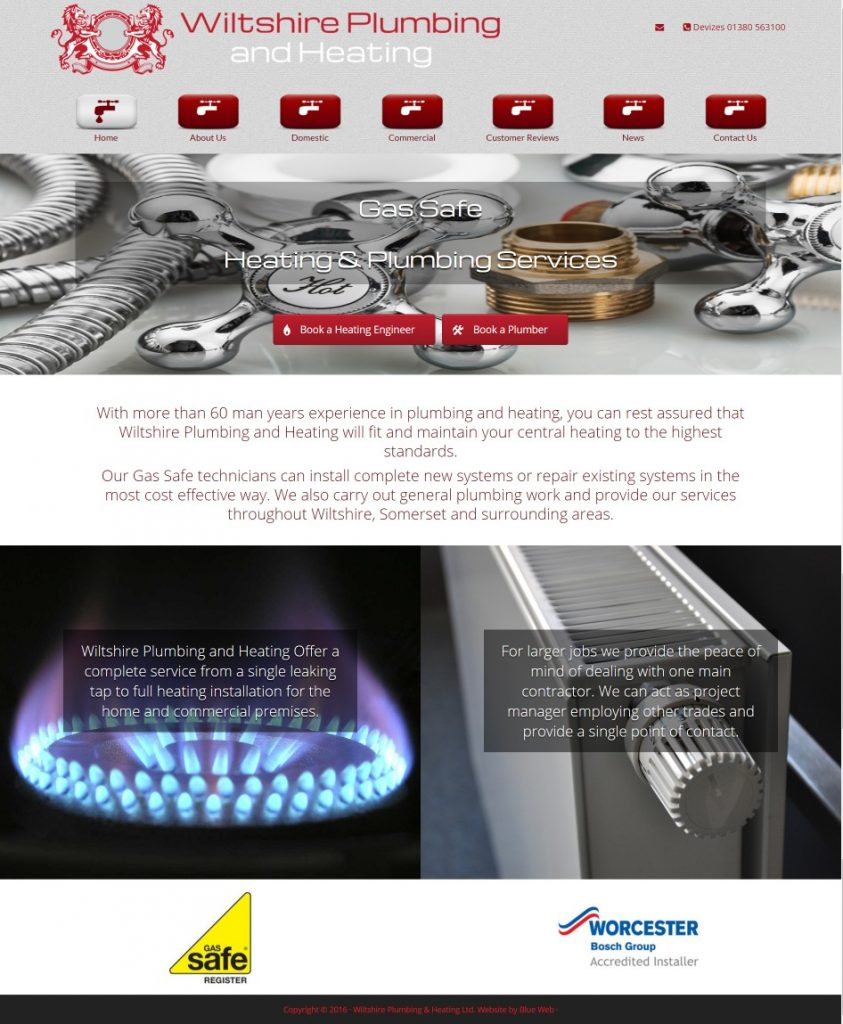 wiltshire-plumbing-heating-websire design-domestic-and-commercial