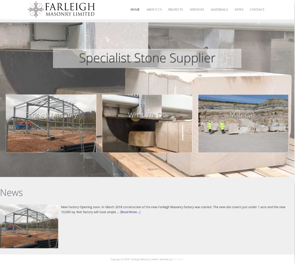 Website Design and Intranet for masonry company